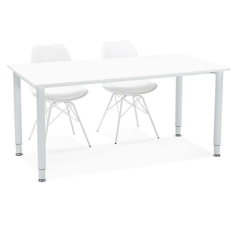 Bureau table de réunion moderne (80x160 cm) LORENZO en bois (blanc) - image 40167
