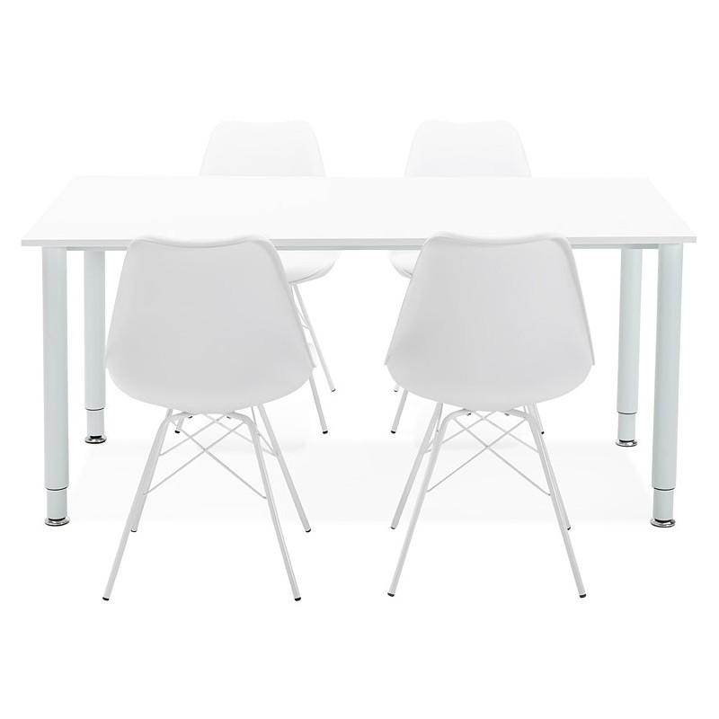 Bureau table de réunion moderne (80x160 cm) LORENZO en bois (blanc) - image 40170
