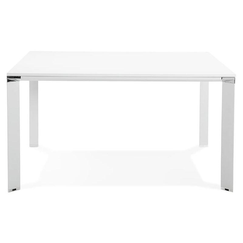 Bureau table de réunion moderne (140x140 cm) RICARDO en bois (blanc) - image 40191
