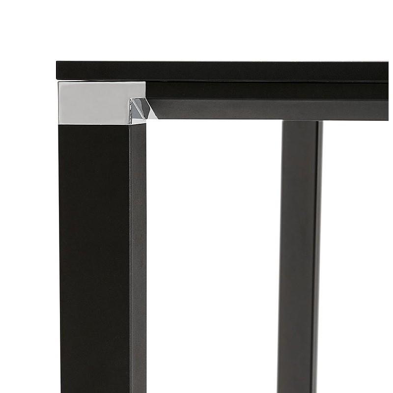 Bureau table de réunion moderne (140x140 cm) RICARDO en bois (noir) - image 40207