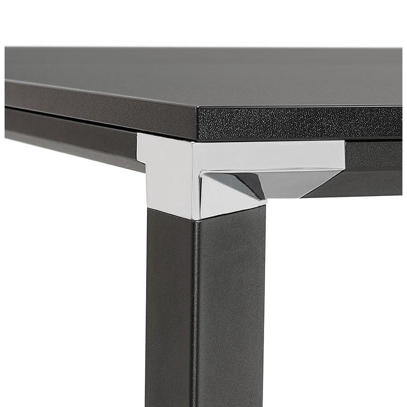 Bureau table de réunion moderne (140x140 cm) RICARDO en bois (noir) - image 40208