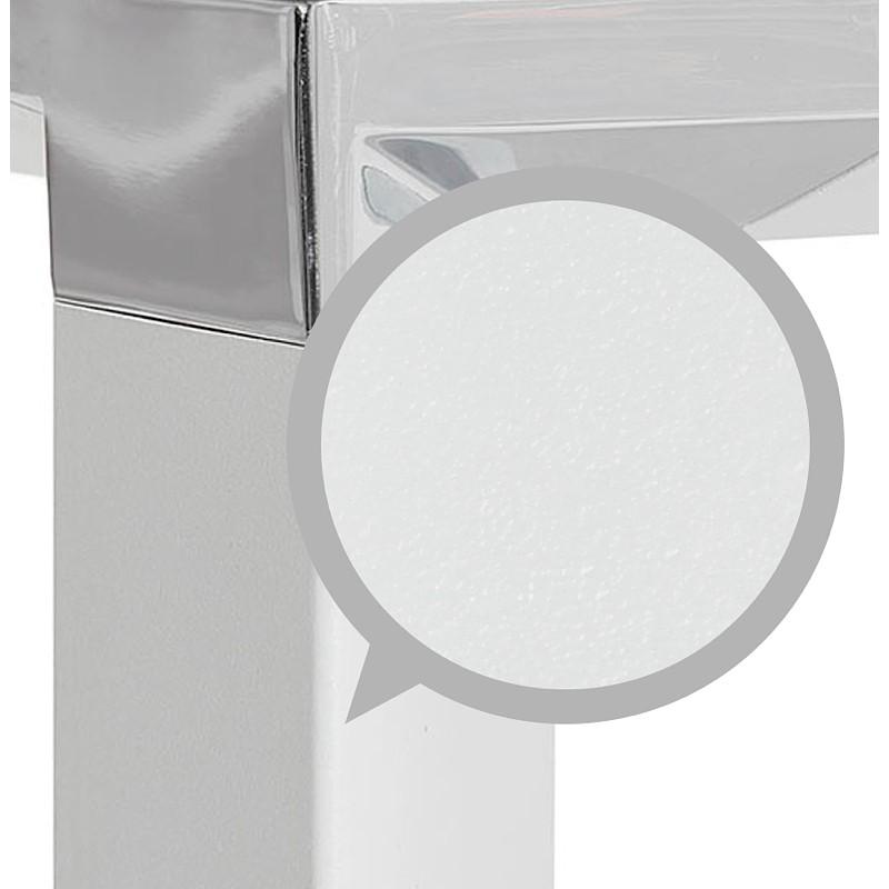 Bureau droit design BOUNY en bois pieds blanc (160 X 80 cm) (noyer) - image 40242