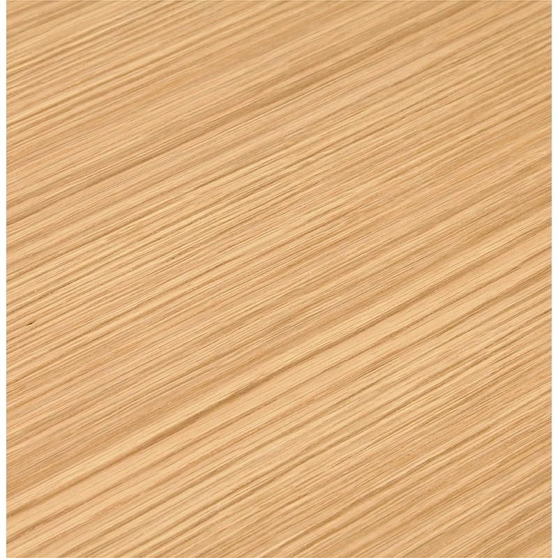 Bureau droit design BOUNY en bois pieds noirs (naturel) - image 40245