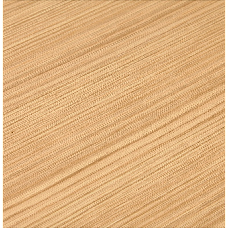 Bureau d'angle design CORPORATE en bois pieds blanc (naturel) - image 40257