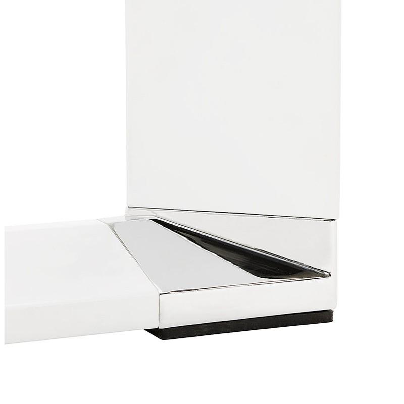 Bureau d'angle design CORPORATE en bois pieds blanc (finition noyer) - image 40264