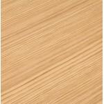 Bureau d'angle design CORPORATE en bois pieds noirs (naturel)