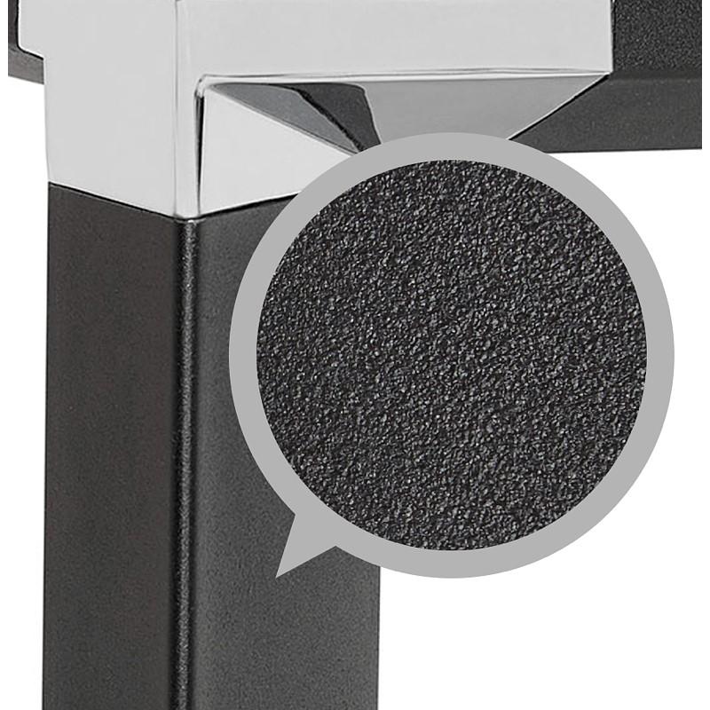 Bureau d'angle design CORPORATE en bois pieds noirs (naturel) - image 40272