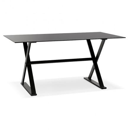 Tavolo design o scrittorio di vetro (160 x 80 cm) WENDY (nero)