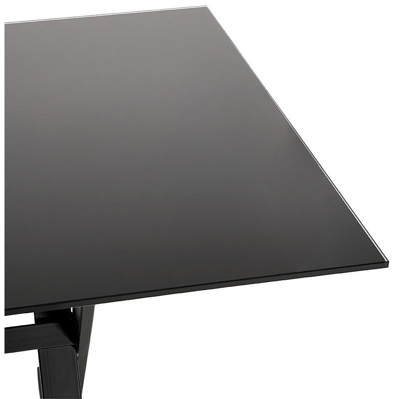 Table à manger design ou bureau (160x80 cm) WENDY en verre (noir) - image 40283