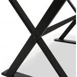 Table design or (160 x 80 cm) WENDY glass desk (black)