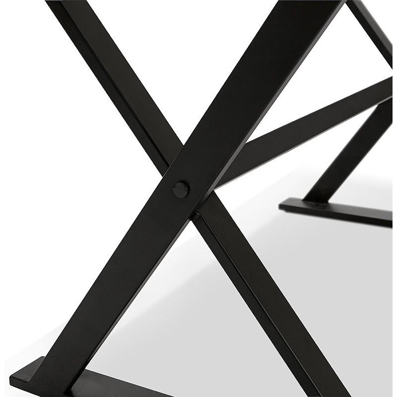 Table à manger design ou bureau (160x80 cm) WENDY en verre (noir) - image 40284