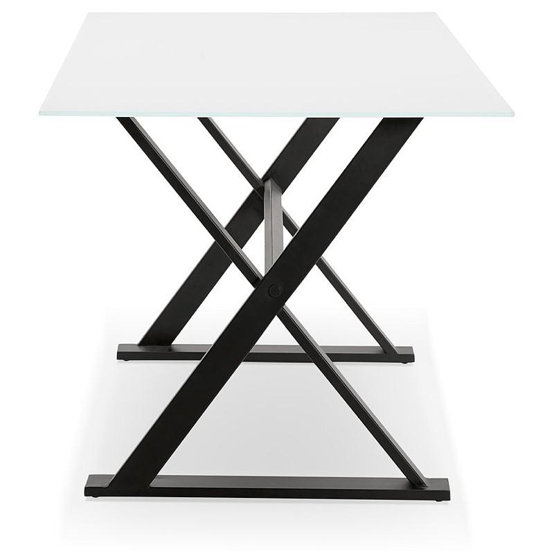 Table à manger design ou bureau (160x80 cm) WENDY en verre (blanc) - image 40289