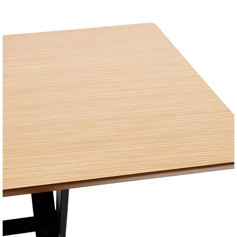 Table à manger design ou bureau (180x90 cm) FOSTINE en bois (naturel) - image 40300