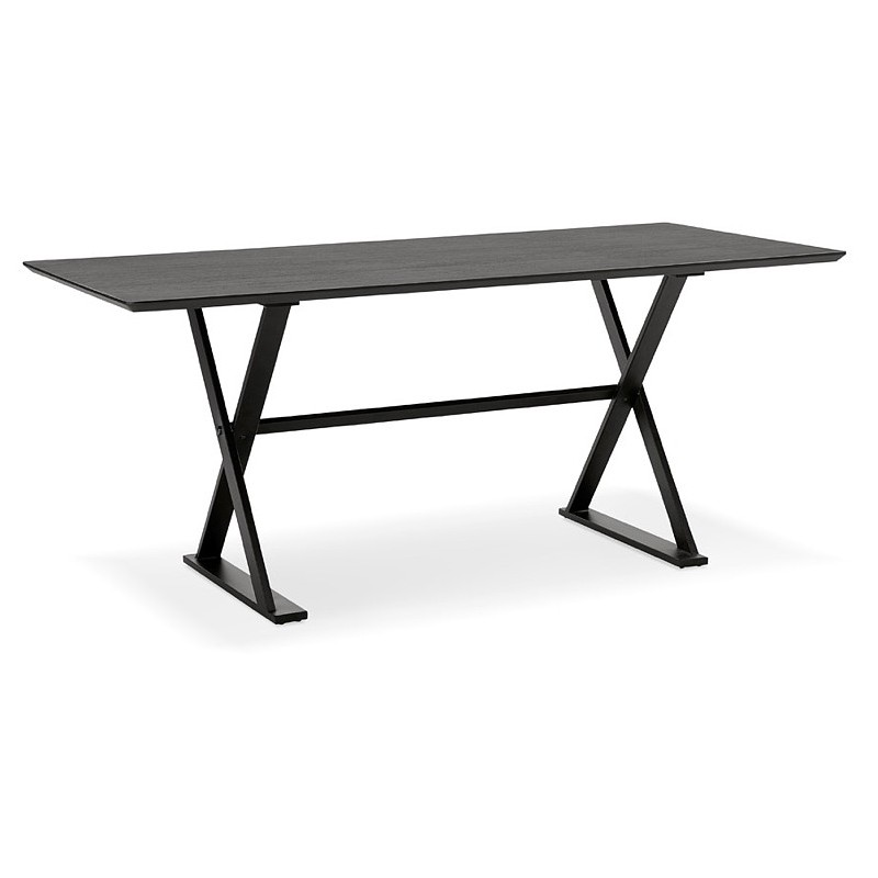 Table à manger design ou bureau (180x90 cm) FOSTINE en bois (noir) - image 40319