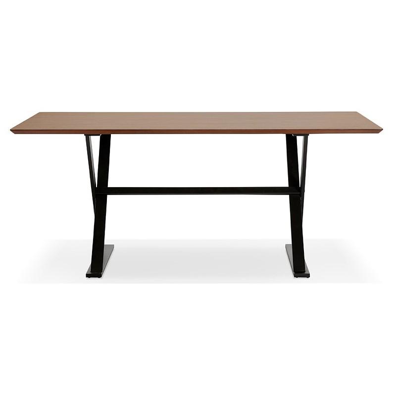 Table à manger design ou bureau (180x90 cm) FOSTINE en bois (finition noyer) - image 40327