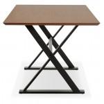 Tisch-Design oder im Büro (180 x 90 cm) FOSTINE aus Holz (Walnuss Finish)