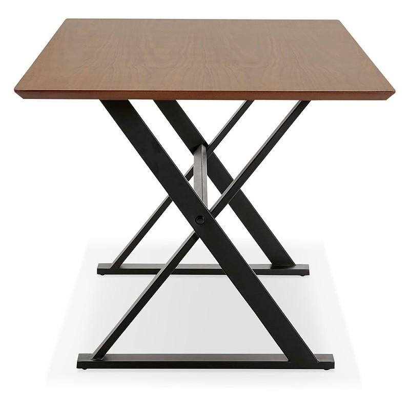 Tisch-Design oder im Büro (180 x 90 cm) FOSTINE aus Holz (Walnuss Finish) - image 40328