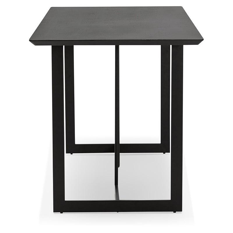 Table à manger design ou bureau (150x70 cm) ESTEL en bois (noir) - image 40338