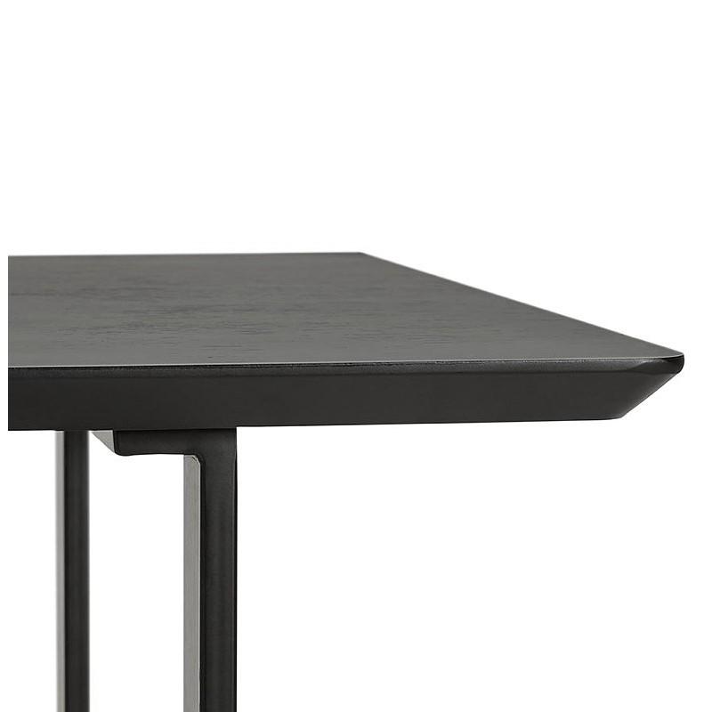 table manger design ou bureau 150x70 cm estel en bois noir. Black Bedroom Furniture Sets. Home Design Ideas