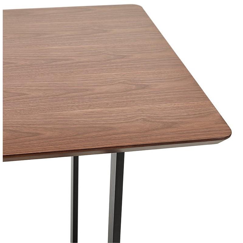 Table à manger design ou bureau (150x70 cm) ESTEL en bois (finition noyer) - image 40359