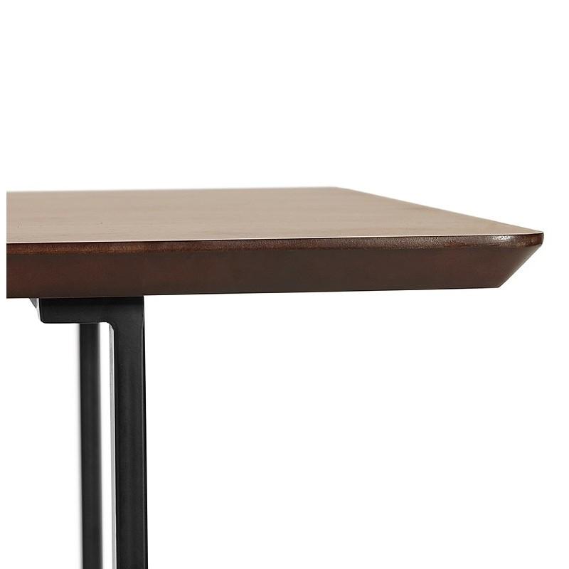 Table à manger design ou bureau (150x70 cm) ESTEL en bois (finition noyer) - image 40361