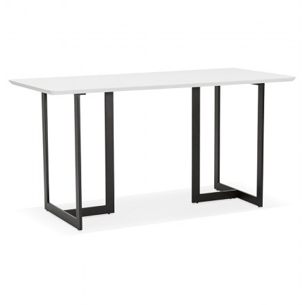 dining table design or office 150 x 70 cm estel wood matte white