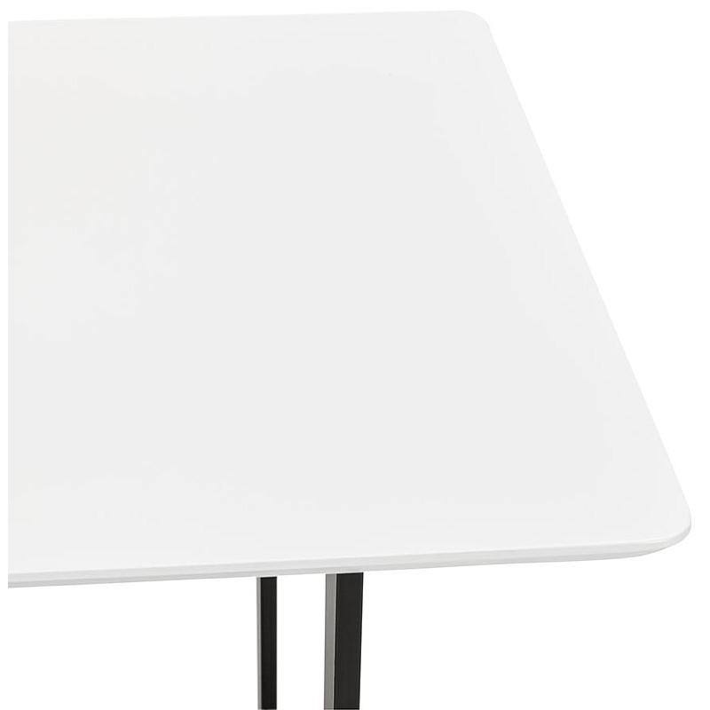 Table à manger design ou bureau (150x70 cm) ESTEL en bois (blanc mat) - image 40369
