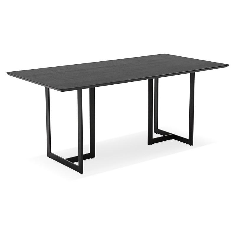 Table à manger design ou bureau (180x90 cm) DRISS en bois (noir) - image 40375