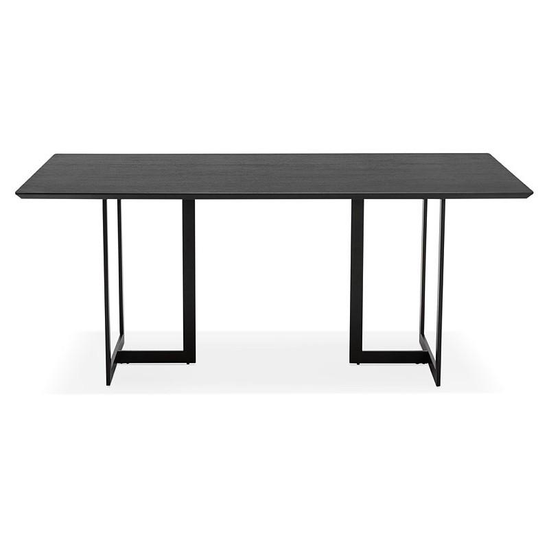 tisch design oder 180 x 90 cm douglas schreibtisch aus holz schwarz. Black Bedroom Furniture Sets. Home Design Ideas