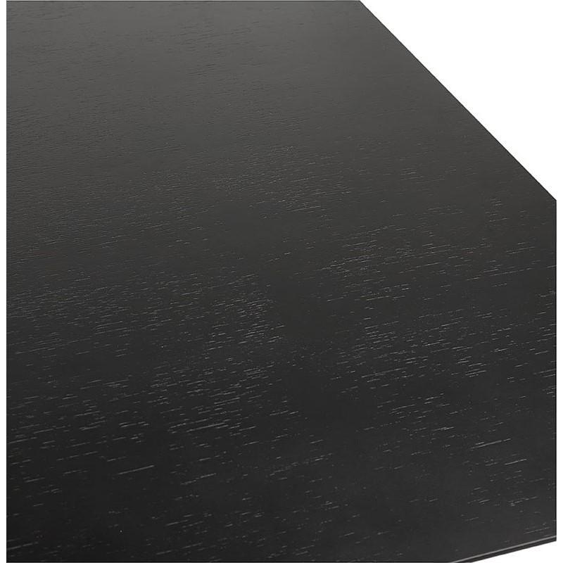 Table à manger design ou bureau (180x90 cm) DRISS en bois (noir) - image 40381