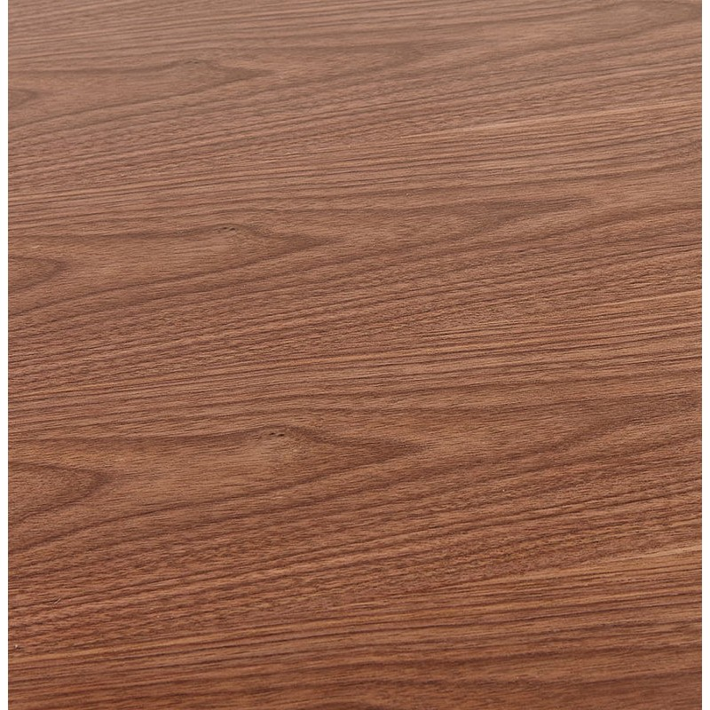 Table à manger design ou bureau (180x90 cm) DRISS en bois (finition noyer) - image 40401