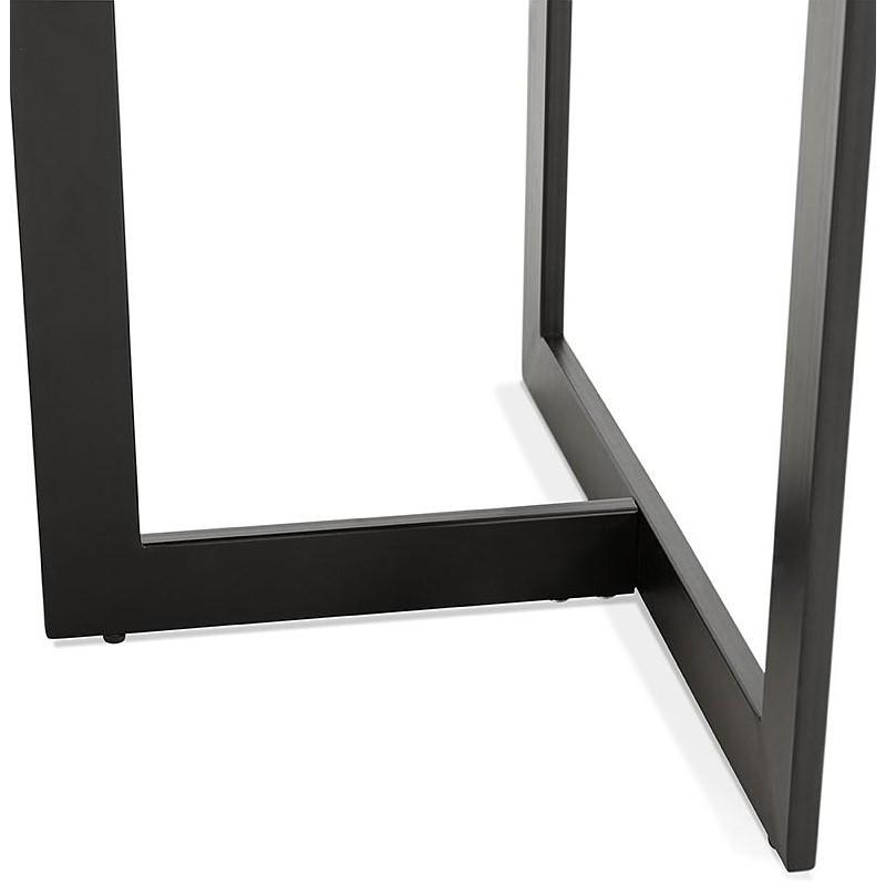 Table à manger design ou bureau (180x90 cm) DRISS en bois (blanc mat) - image 40413