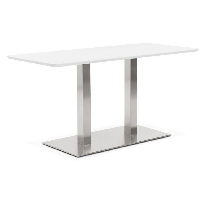 Table à manger design ou table de réunion CORALIE (150x70x75 cm) (blanc) - image 40418