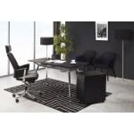 Lampada da tavolo di design tessuto di altezza regolabile LAZIO (nero)