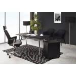 Sillón de cuero de CUBA (negro) de oficina de diseño ergonómico