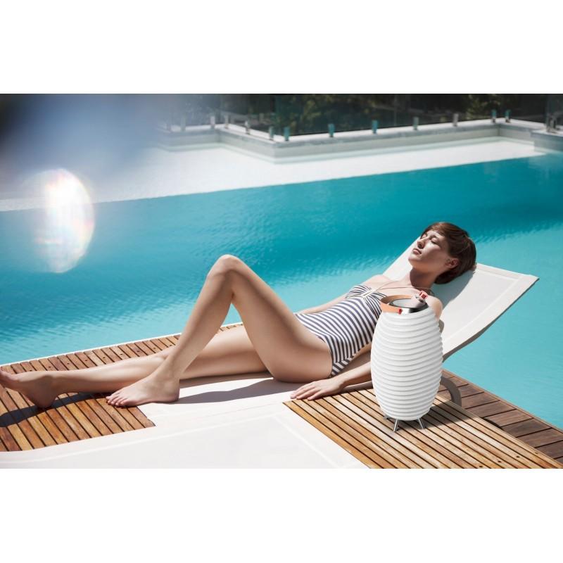 Lampe LED seau à champagne haut-parleur enceinte bluetooth KOODUU SYNERGIE S 65 (blanc) - image 40456