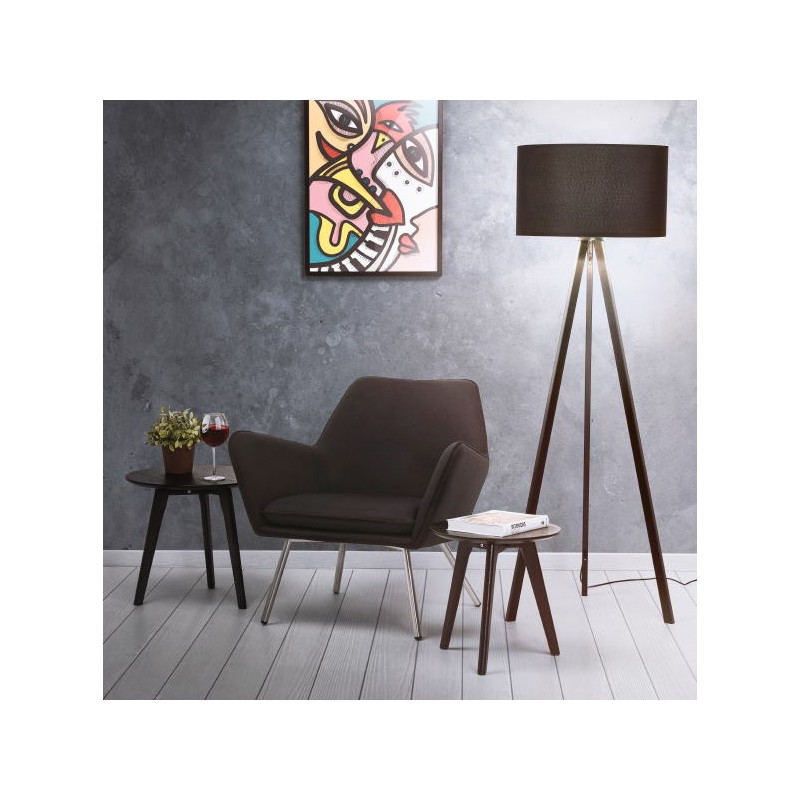 Scandinavian style TRANI (black) fabric floor lamp - image 40464