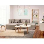 Tavolini design arte estraibile in legno e rovere (bianco)