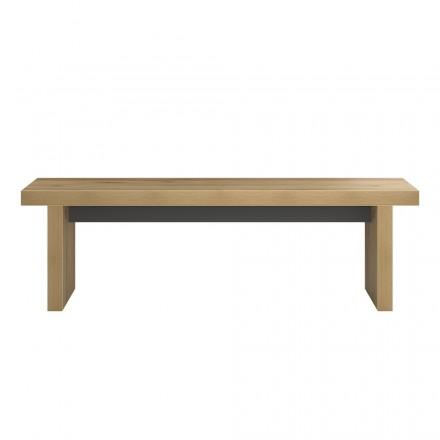 Progettare la panchina e ALISON contemporaneo in legno (rovere)