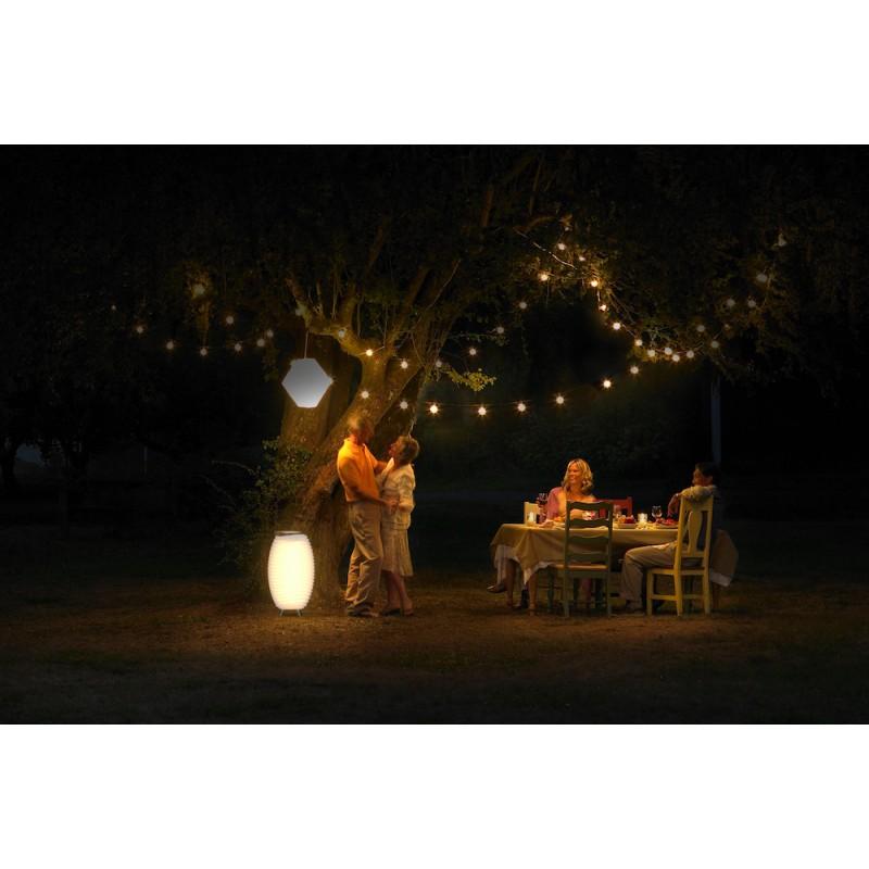 Lampe LED seau à champagne haut-parleur enceinte bluetooth KOODUU SYNERGIE S 35 (blanc) - image 40956