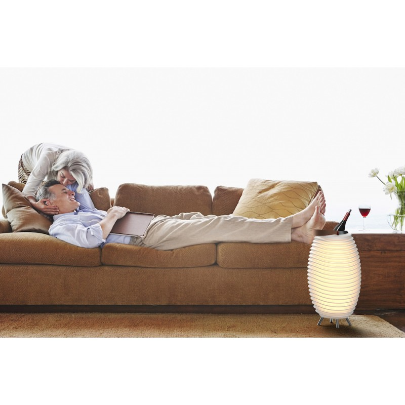 Lámpara LED Cubo champán embarazada altavoz bluetooth KOODUU sinergia 50 S (blanco) - image 40961