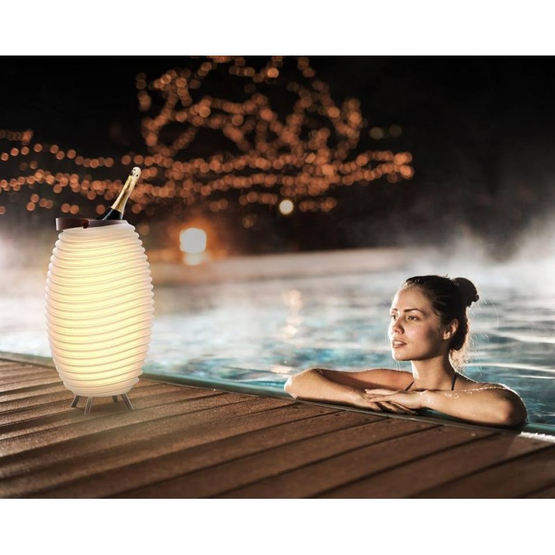 Lampe LED seau à champagne haut-parleur enceinte bluetooth KOODUU SYNERGIE S 65 (blanc) - image 40966
