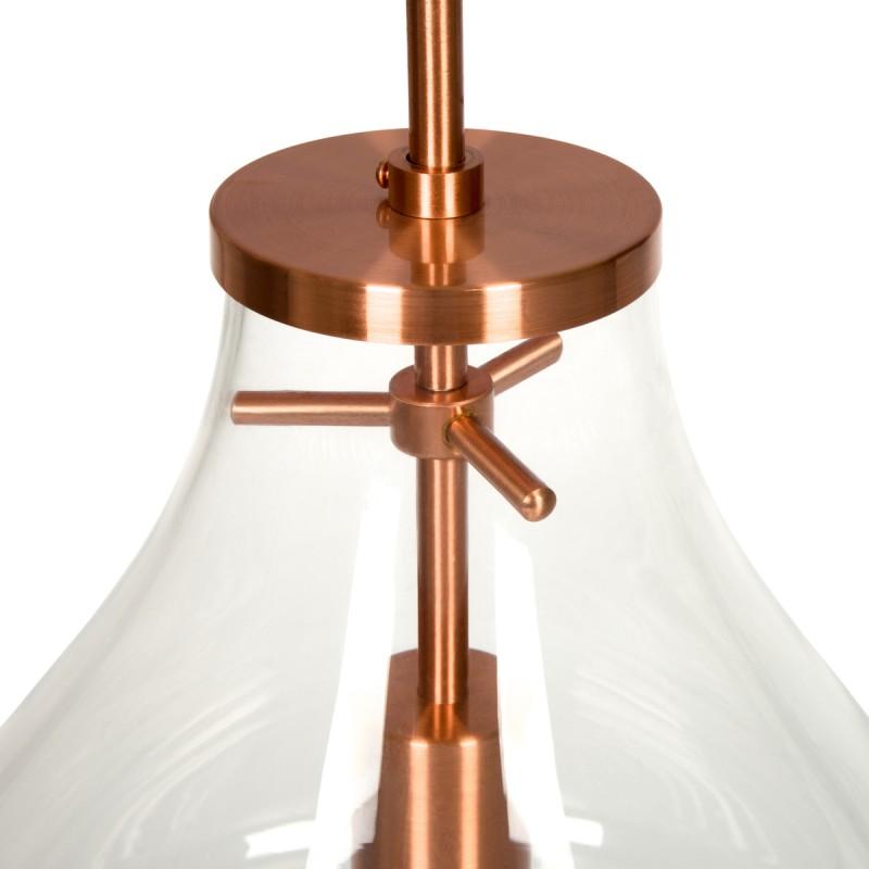 Lampe suspendue industriel large H 50 cm Ø 37,7 cm MASSY (Transparent, cuivre) - image 40986