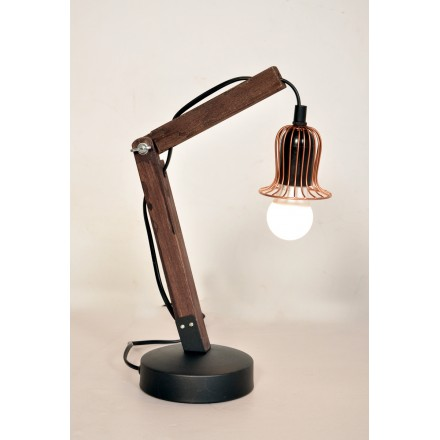 Lampe de table architecte industriel HARRY (cuivre)