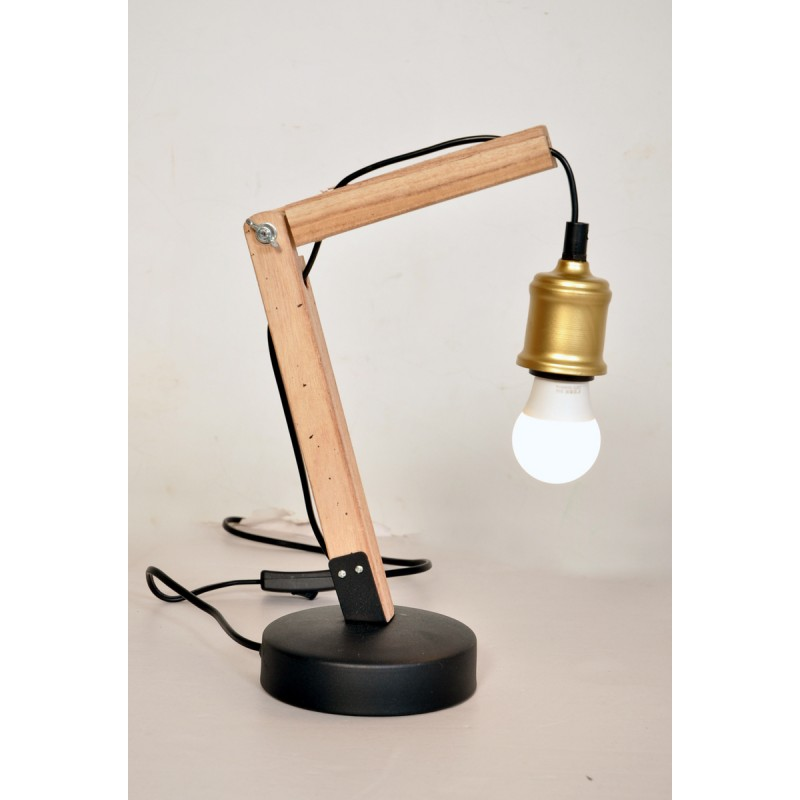 Industrial architect HARRY (brass) table lamp - image 40995