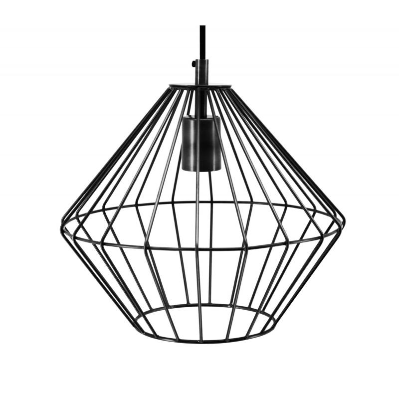 Lampe à suspension industriel H 37 cm Ø 29 cm YOURRY (noir) - image 40999
