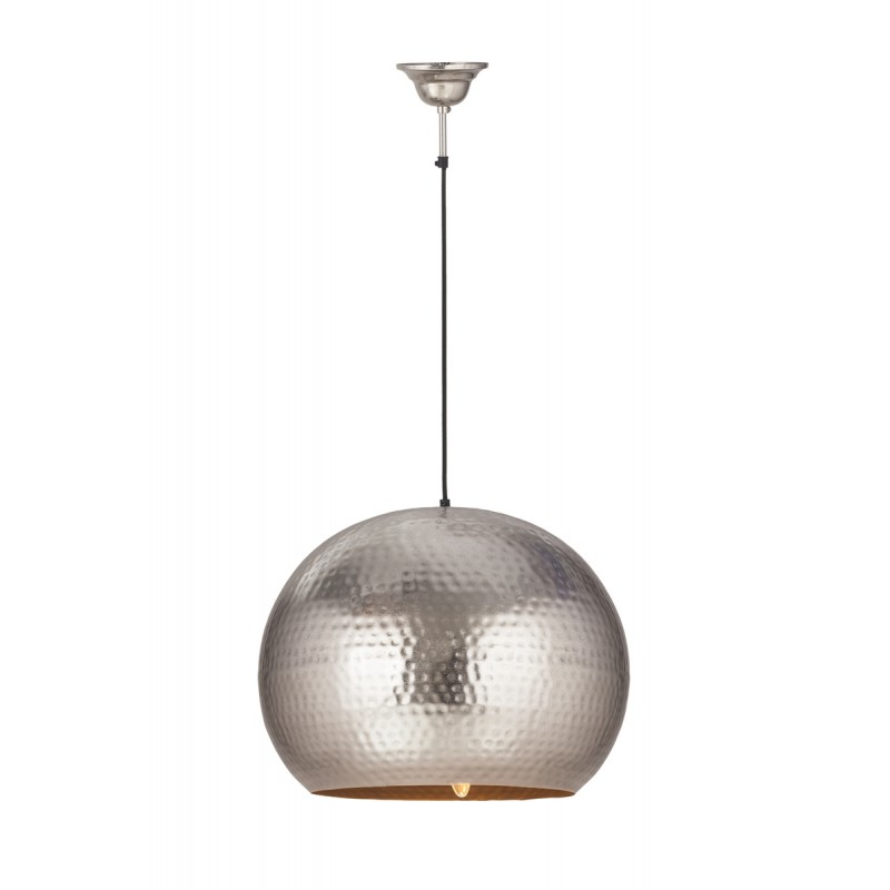 Lampe suspendue factory industriel en métal H 52 cm Ø 47 cm SAVANNAH (argent) - image 41011