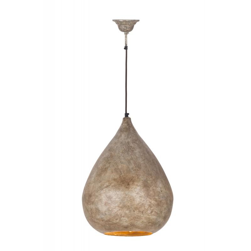 Lampe suspendue industriel H 44 cm Ø 33 cm MERYL (champagne) - image 41016