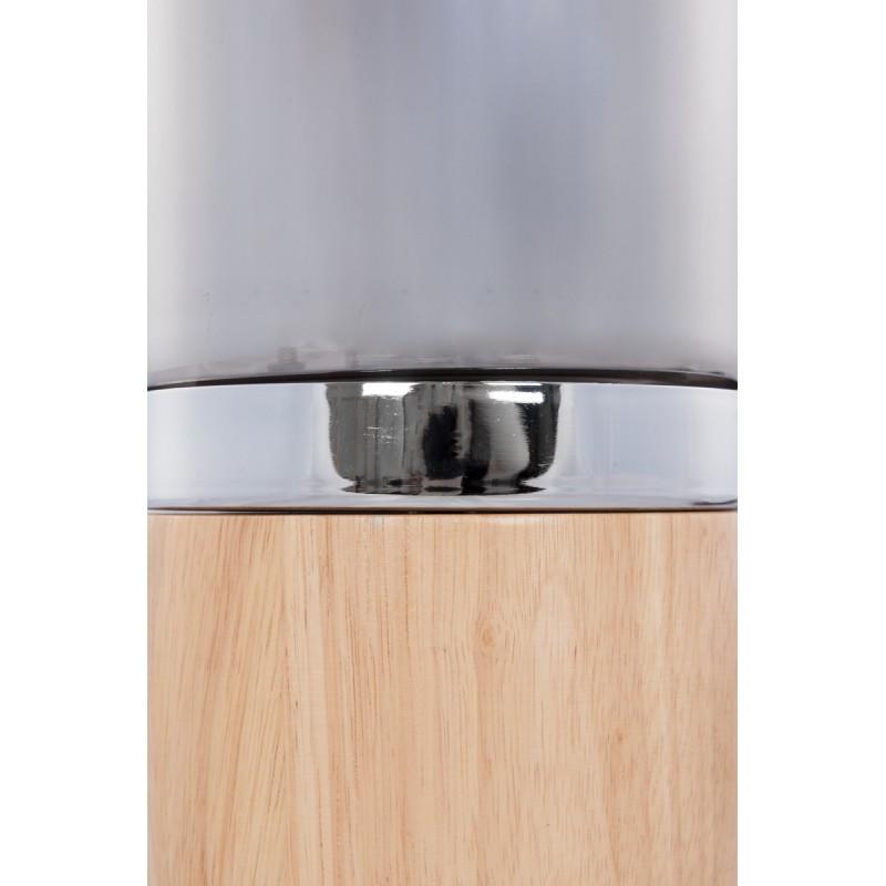 Lámpara de mesa diseño cristal Bell H 33 cm Ø 14 cm BRENDA (madera natural, gris) - image 41031