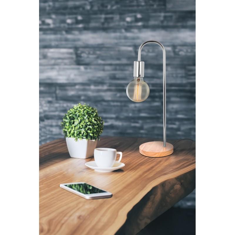 Table lamp design metal H 47 cm Ø 15 cm ARIANE (chrome) - image 41033